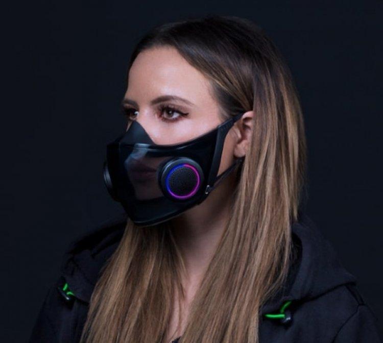 A Razer újdonsága: okos maszk akkumulátorral és világítással